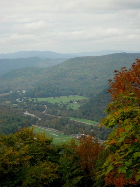 Thumbnail image for View of the Mohawk Trail from a Berkshire East Canopy Tour zipline platform
