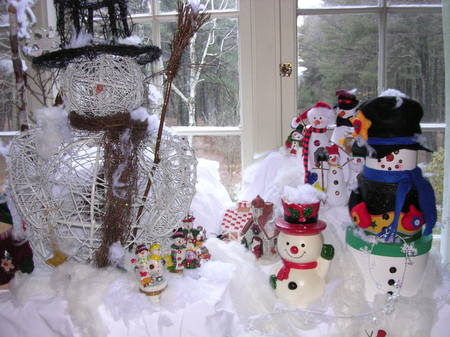Snowmen, one of the Clamber Hill Collections