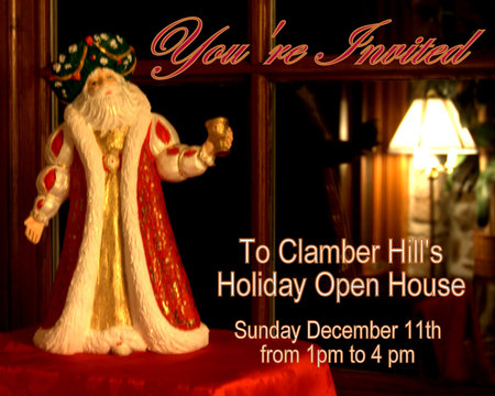 Clamber Hill Holiday Open House December 11, 2011