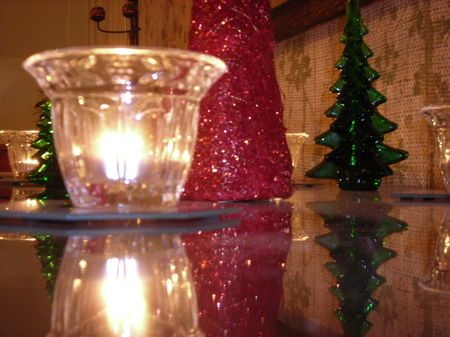 Tea lights, a festive addition to the Holiday Decorations