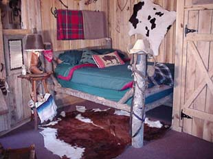 Eventually back to our Cowboy Bunkhouse room at Namaste Acres B&B